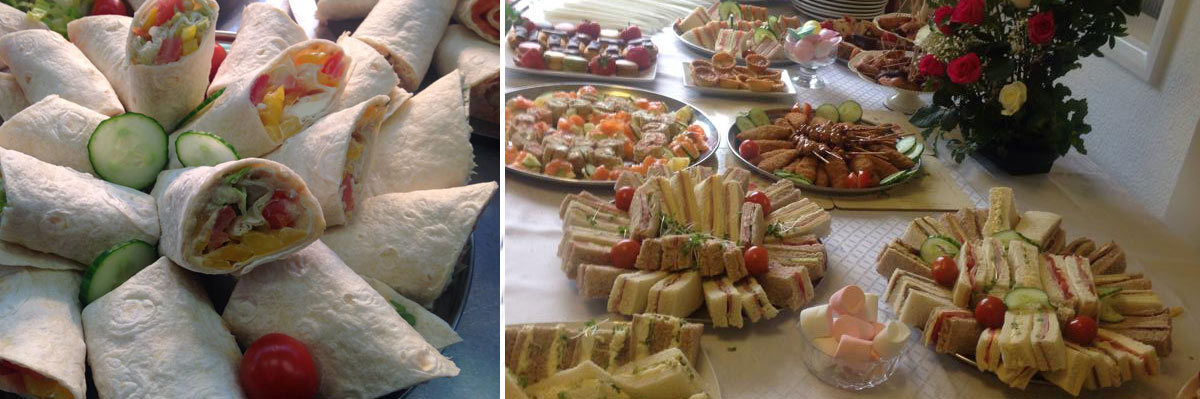 Finger buffet catering menus