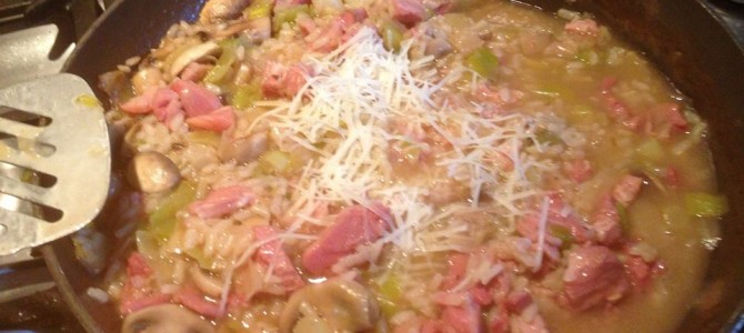 Ham, Leek & Mushroom Risotto