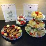 vintage tea party - cake and sandwich stand