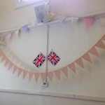 vintage tea party - flags and bunting