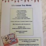 vintage tea party - menu