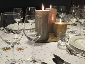 Candlelit Christmas Table