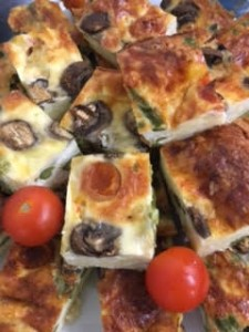 close up quiche